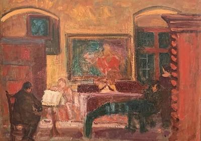Jean-Jacques Lüscher: Buschquartett, um 1927, Öl auf Leinwand, Foto: Philia Heydrich, Basel